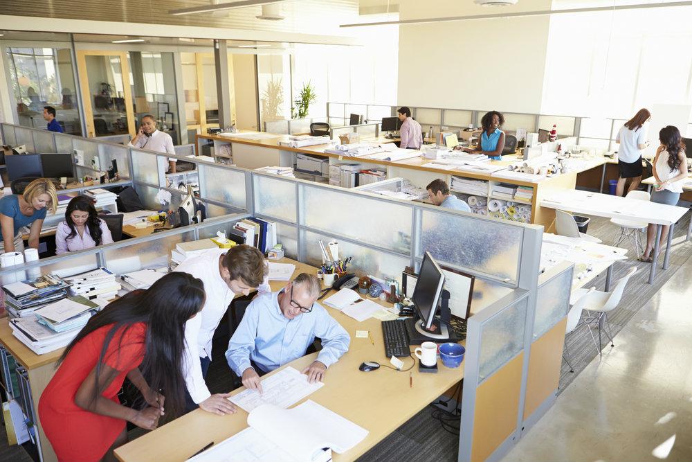 Imagem representando uma equipe de centro de serviços compartilhados